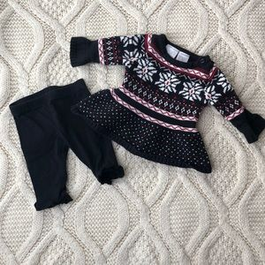 Koala baby l Faire Isle Sweater Dress Legging Set